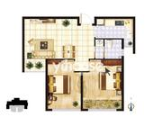 B户型两室两厅一卫约85.13㎡