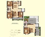 3.6#楼顶层四室三厅三卫+露台210.57㎡