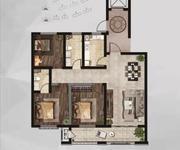 H户型,115.74㎡,三室两厅两卫