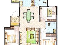 万达附近学区房 盈科花溪径121平米全明户型3居室