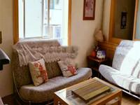 文化宫后街,两居室,南北通透,家具家电齐全,拎包入住。