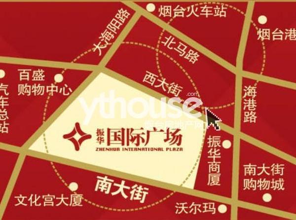 芝罘区繁华路段南大街亚细亚大酒店对面、振华国际东侧多层住宅 赠送使用宽带