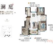 澜庭98.89㎡三室两厅一卫