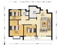 花溪径,双南卧南客厅,三室出售,有证可贷款